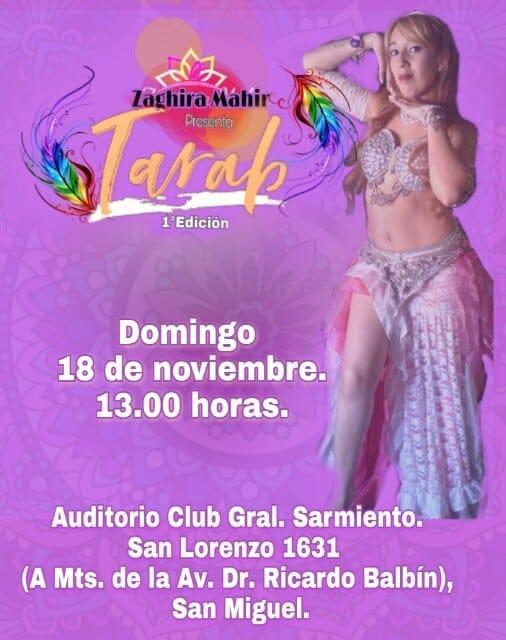 """A muy pocos días... Llega """"Tarab"""" a San Miguel... 18 de noviembre. 13.00 horas. Flyer_10"""