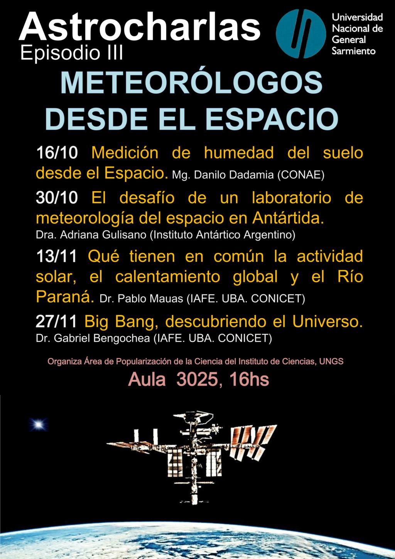 Malvinas Argentinas: Este miércoles 13: Astrocharlas en la UNGS para toda la comunidad. Pzster10