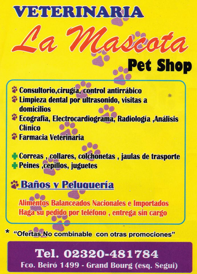"Para el bienestar del animal. Veterinaria ""LA MASCOTA"". Veteri19"