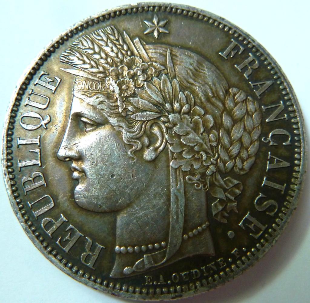 5 francos de 1870. Gobierno de Defensa Nacional Francia P1150411