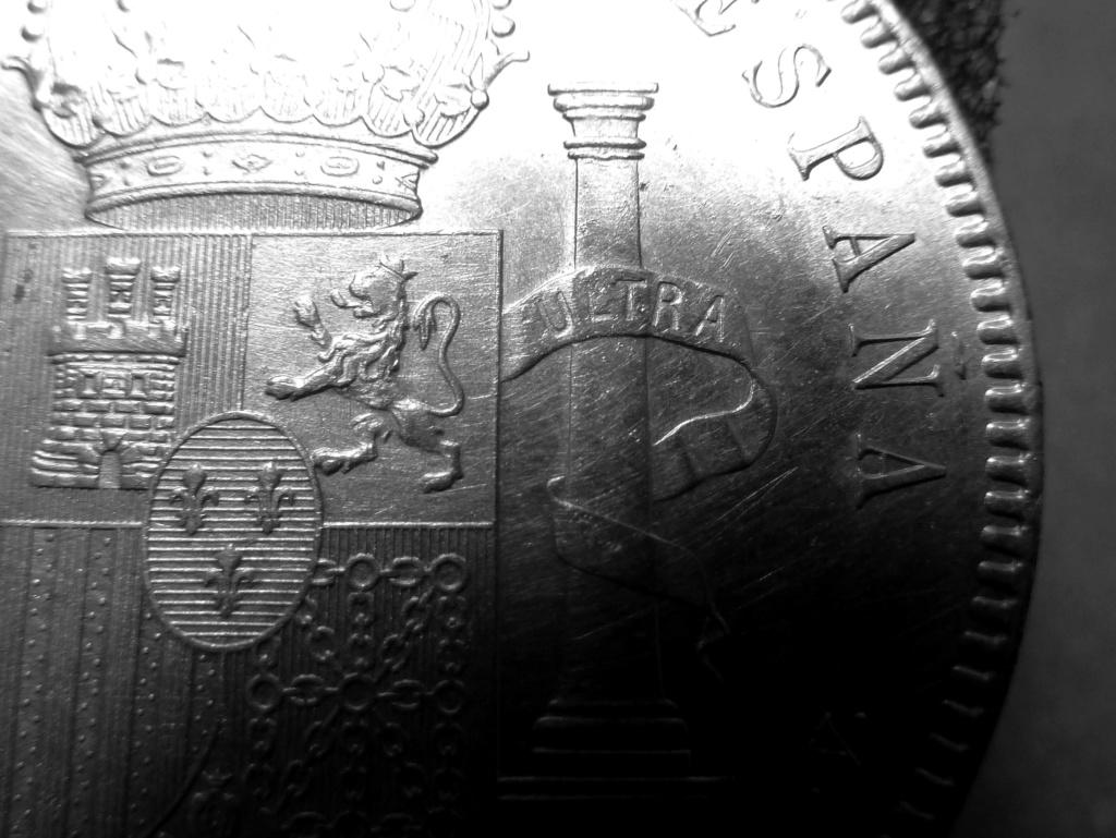 5 pesetas de Alfonso XIII, 1898. Error M de Maura al reves P1160015