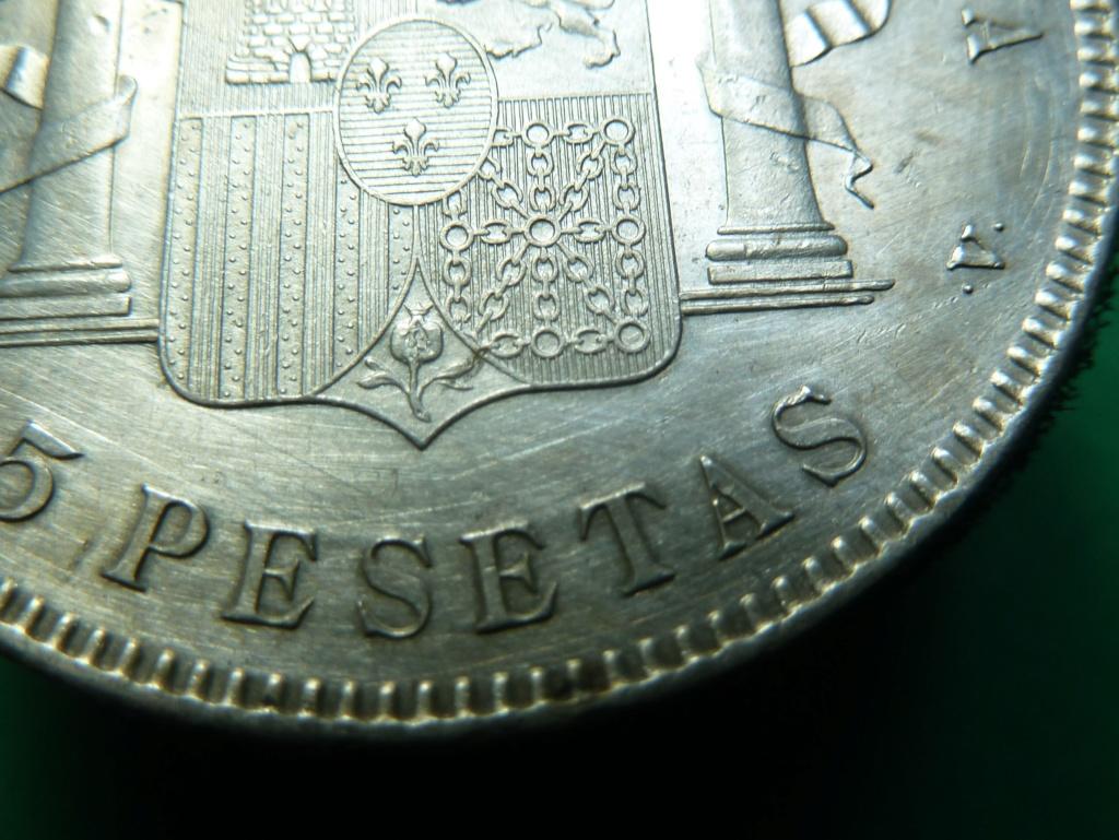 5 pesetas de Alfonso XIII, 1898. Error M de Maura al reves P1160112