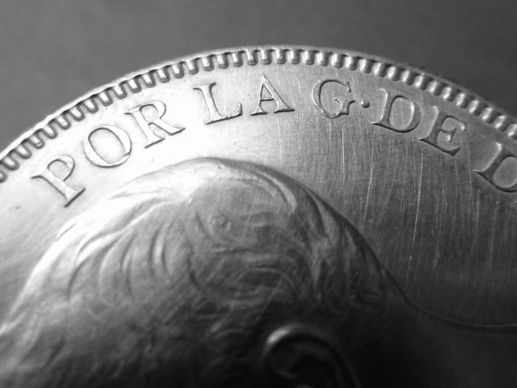 5 pesetas de Alfonso XIII, 1898. Error M de Maura al reves P1160115