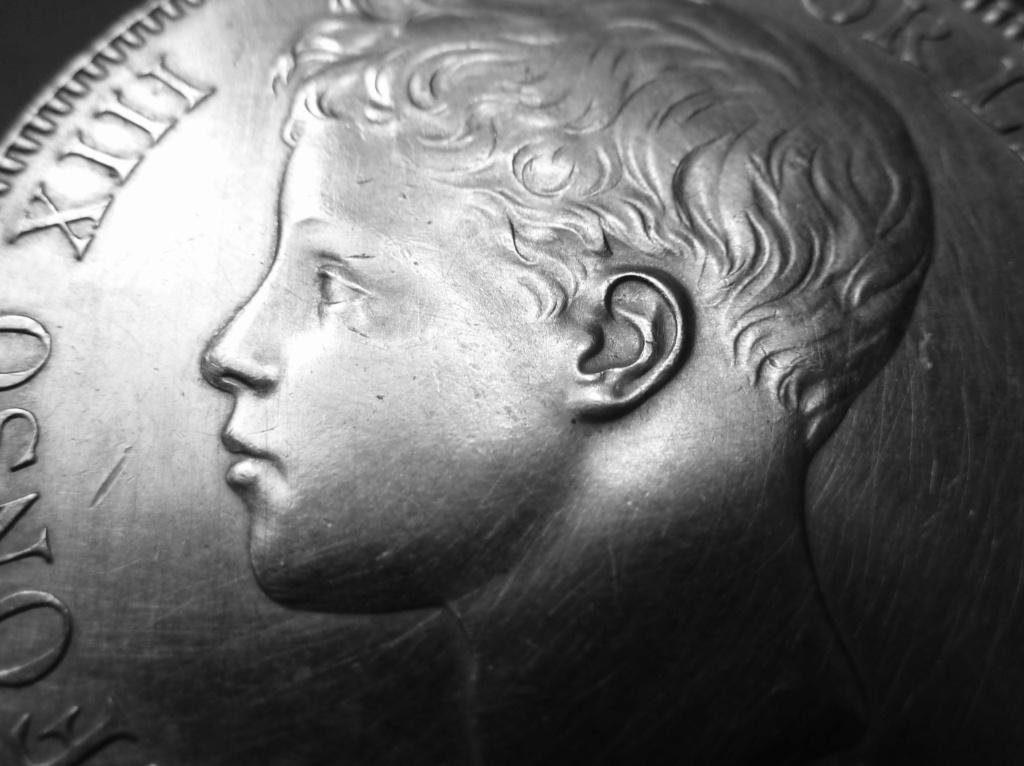 5 pesetas de Alfonso XIII, 1898. Error M de Maura al reves P1160116