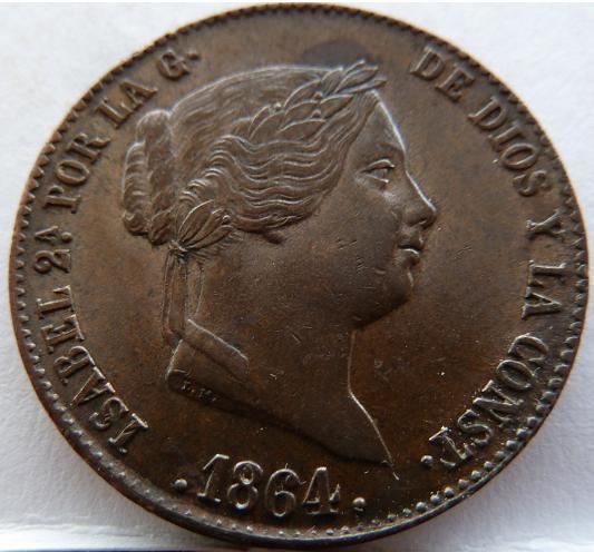 Cuartillo de Isabel II. 1864 P1160610