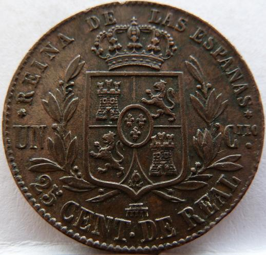 Cuartillo de Isabel II. 1864 P1160612
