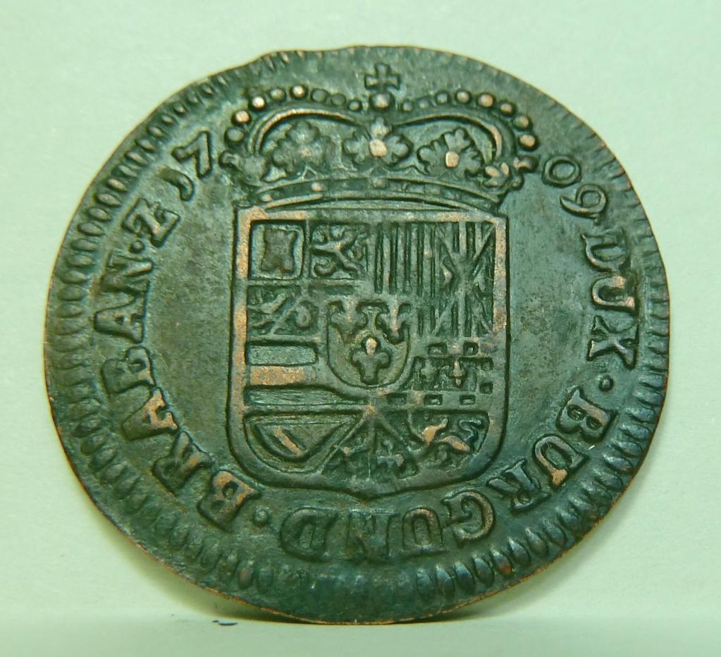 1 Liard 1709. Felipe V. Namur P1160810
