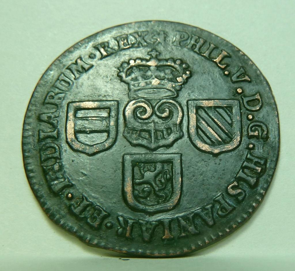 1 Liard 1709. Felipe V. Namur P1160811