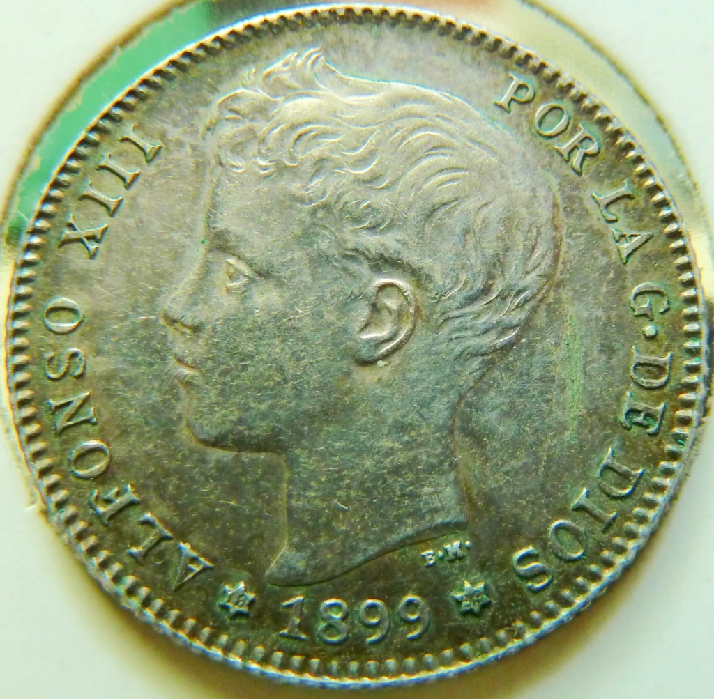 1 peseta. Alfonso XIII. 1899. Sin ensayadores. P1160821
