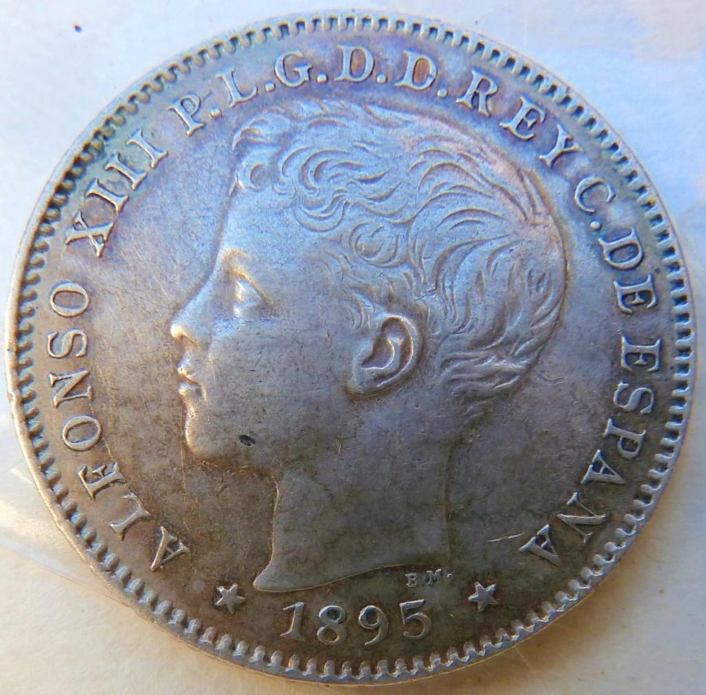 20 centavos de peso. Alfonso XIII. Puerto Rico, 1895 P1160824