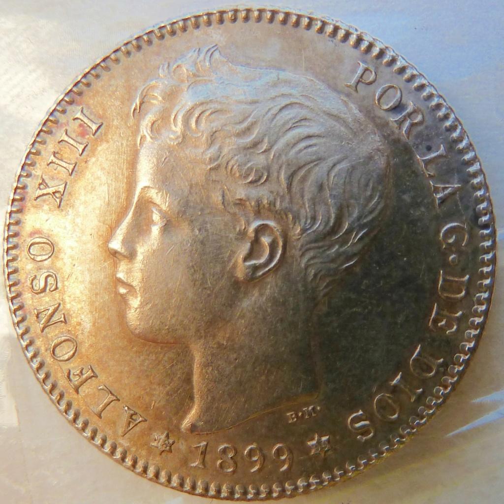1 peseta. Alfonso XIII. 1899 P1160828