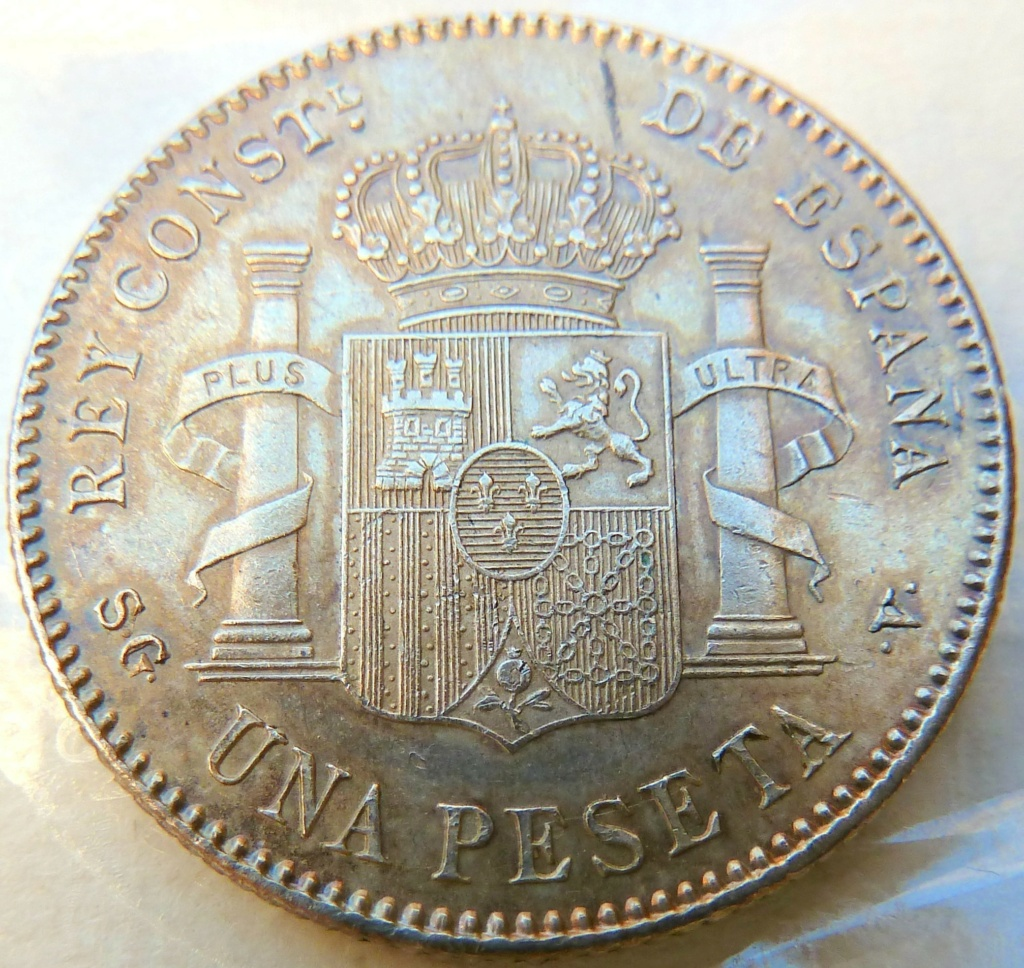 1 peseta. Alfonso XIII. 1899 P1160829