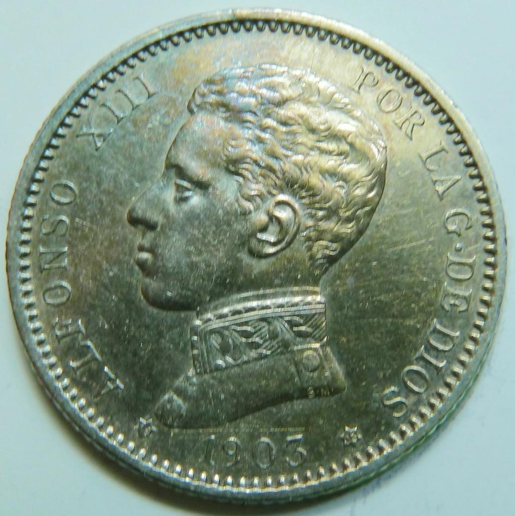 1 peseta. Alfonso XIII, 1903 P1160836