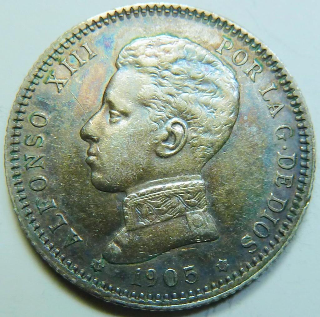 1 peseta. Alfonso XIII. 1905 P1160840