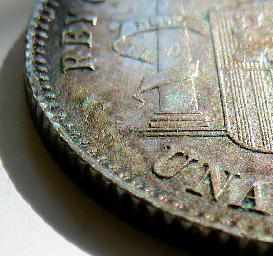1 peseta. Alfonso XIII. 1899. Sin ensayadores. P1160910