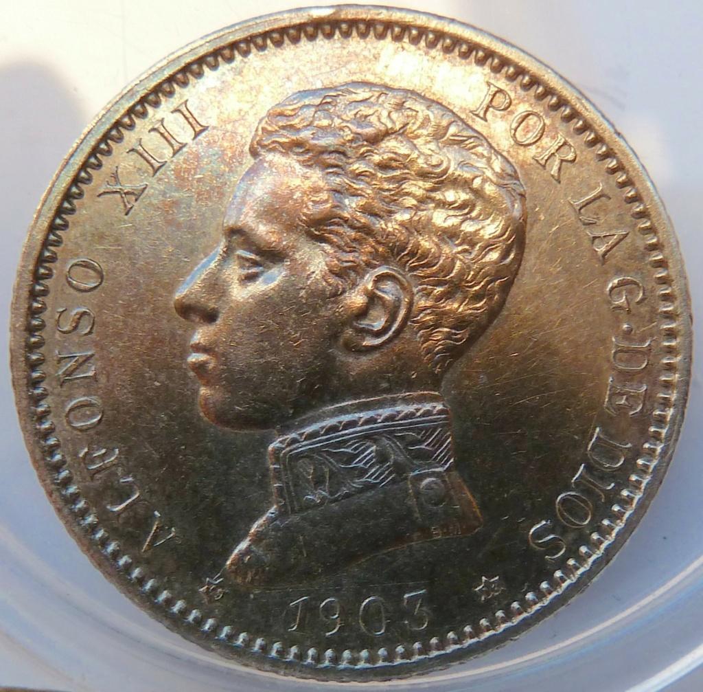1 peseta. Alfonso XIII, 1903 P1160915
