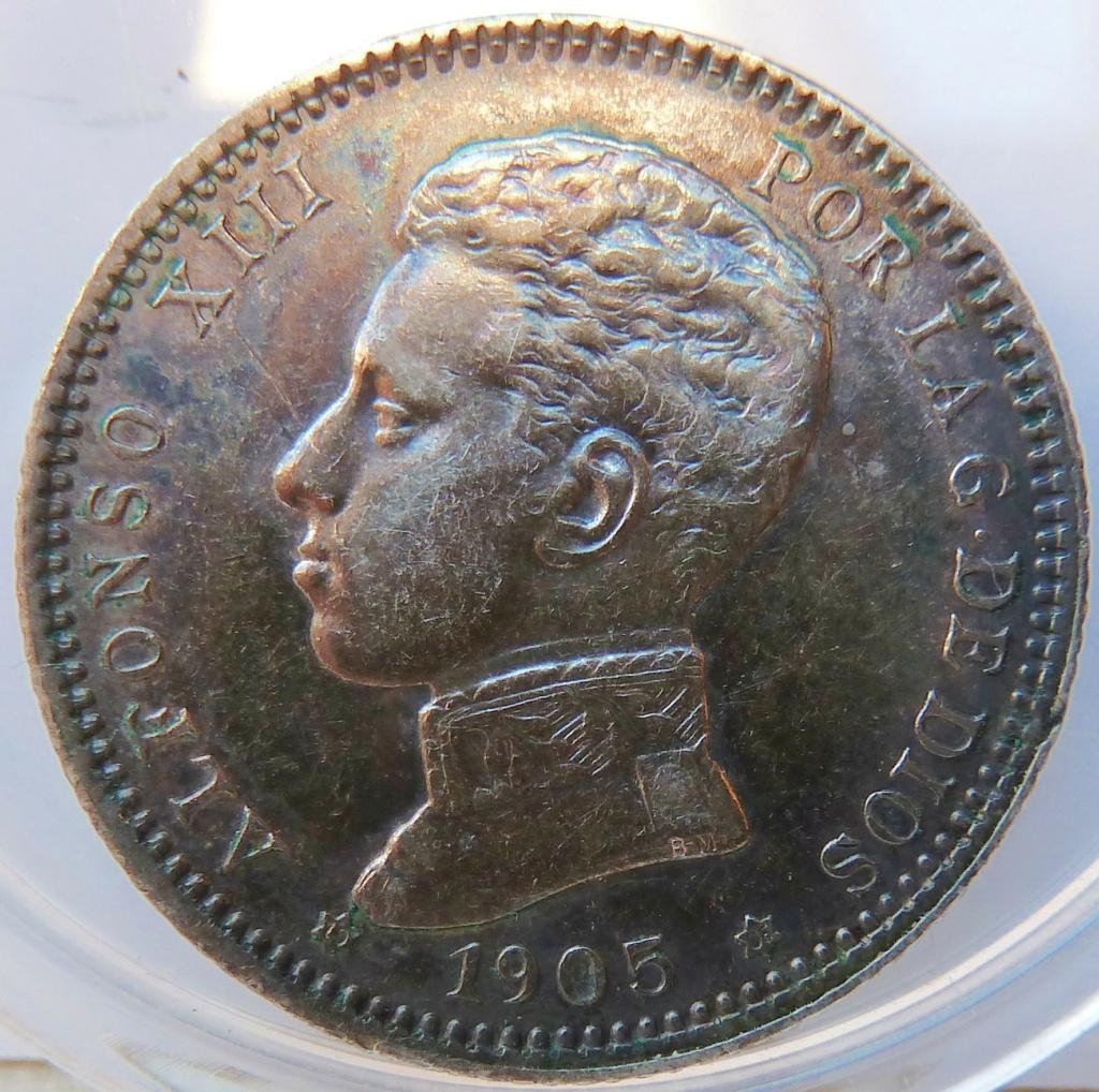 1 peseta. Alfonso XIII. 1905 P1160919