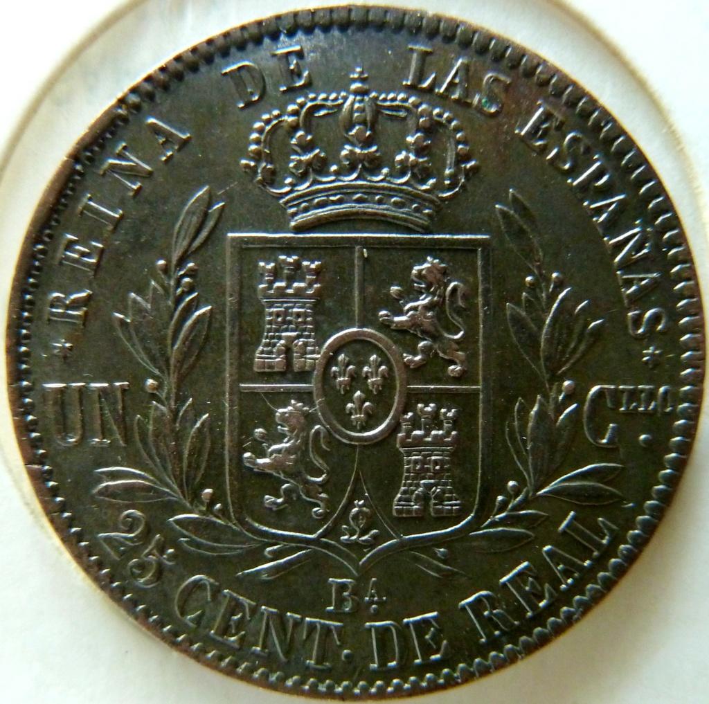 Cuartillo de Isabel II. Barcelona ,1864 P1170511