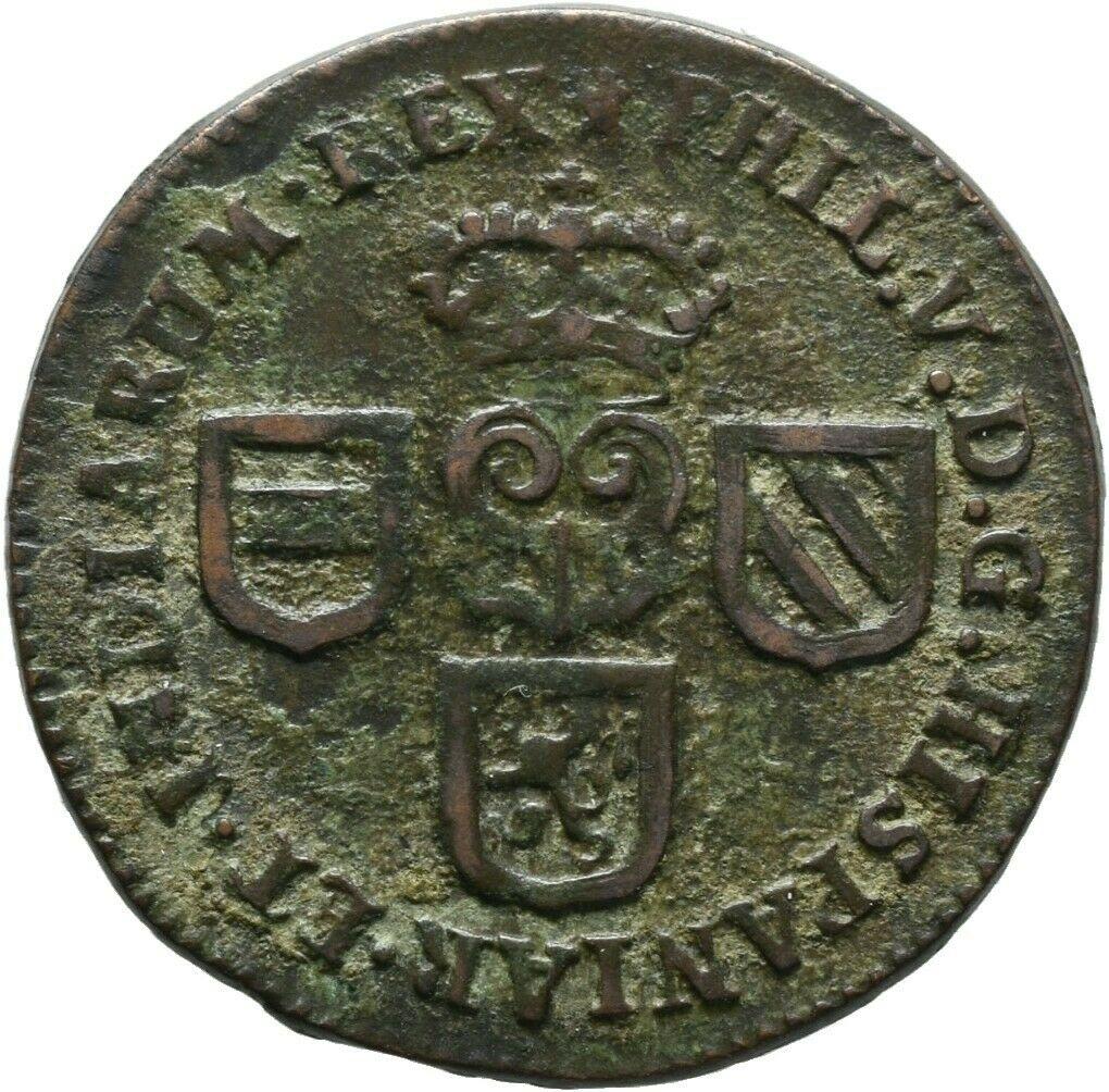 1 Liard 1709. Felipe V. Namur S-liar10