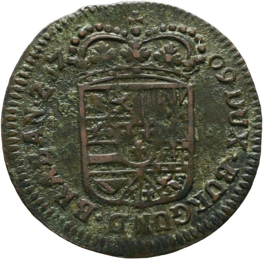 1 Liard 1709. Felipe V. Namur S-liar11