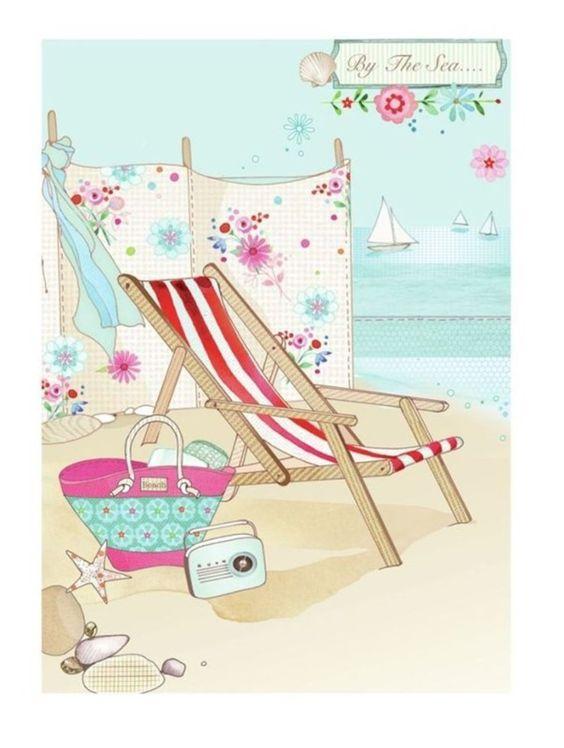 """Illustrations ... pour l'été ... Plage et """"farniente"""" ... 00542210"""