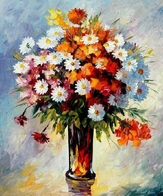 Bouquet dans un vase, une corbeille, une coupe, une poterie  - Page 2 00953610
