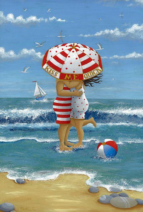 """Illustrations ... pour l'été ... Plage et """"farniente"""" ... 05265510"""
