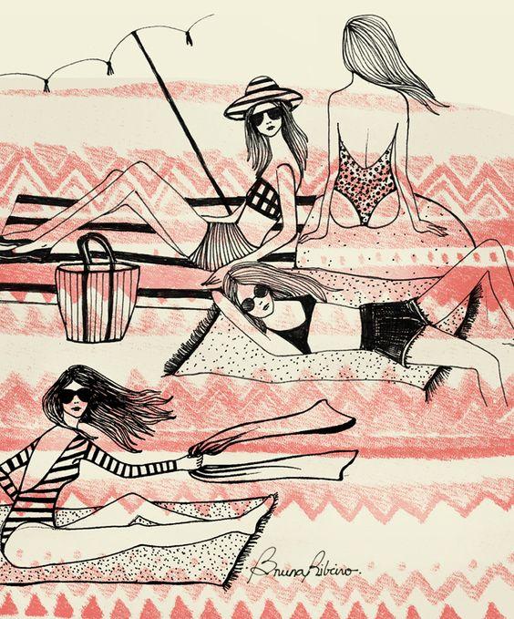 """Illustrations ... pour l'été ... Plage et """"farniente"""" ... 060bd110"""