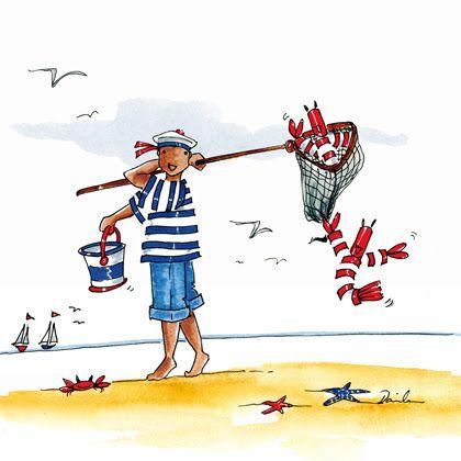 """Illustrations ... pour l'été ... Plage et """"farniente"""" ... 0aa26e10"""