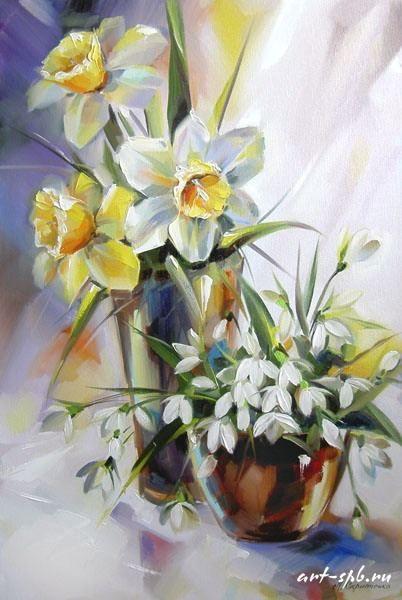 Bouquet dans un vase, une corbeille, une coupe, une poterie  0d272410