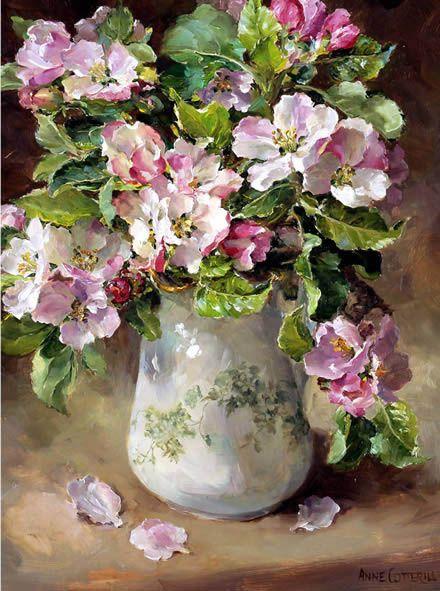 Bouquet dans un vase, une corbeille, une coupe, une poterie  0e309c10