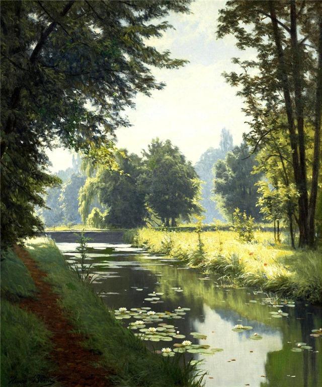 L'eau paisible des ruisseaux et petites rivières  13-hen10