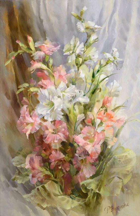 Bouquet dans un vase, une corbeille, une coupe, une poterie  - Page 2 13b26410