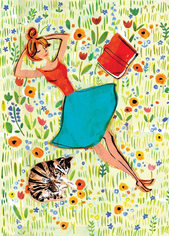 """Illustrations ... pour l'été ... Plage et """"farniente"""" ... 140a5a10"""