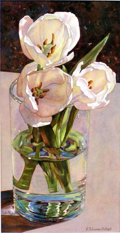 Bouquet dans un vase, une corbeille, une coupe, une poterie  - Page 2 18a06a10