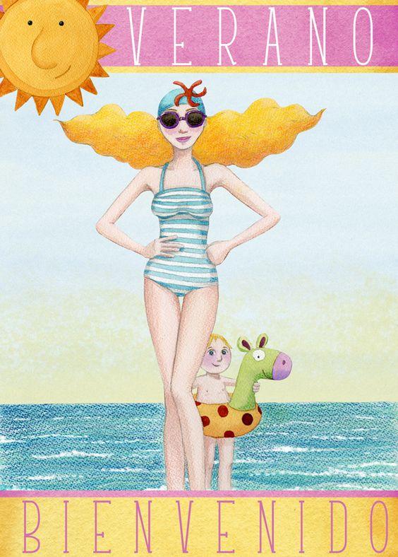 """Illustrations ... pour l'été ... Plage et """"farniente"""" ... 22378910"""