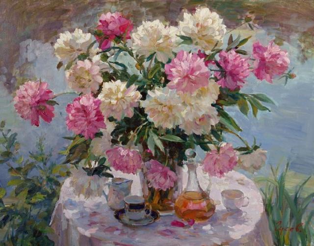 Bouquet dans un vase, une corbeille, une coupe, une poterie  - Page 2 22615010