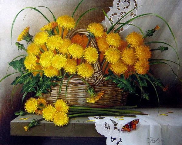 Bouquet dans un vase, une corbeille, une coupe, une poterie  - Page 2 22adc310