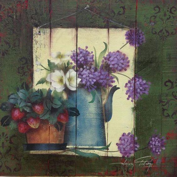 Bouquet dans un vase, une corbeille, une coupe, une poterie  23eb8610