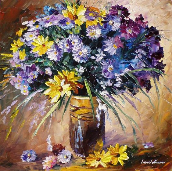 Bouquet dans un vase, une corbeille, une coupe, une poterie  - Page 2 304e3610
