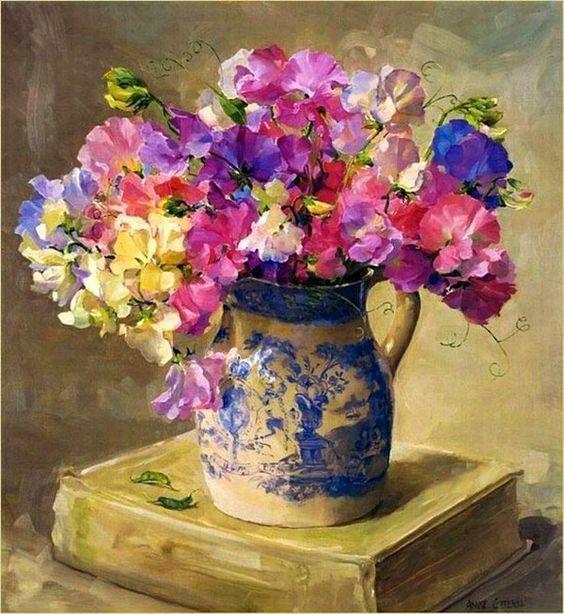Bouquet dans un vase, une corbeille, une coupe, une poterie  - Page 2 32b6db10