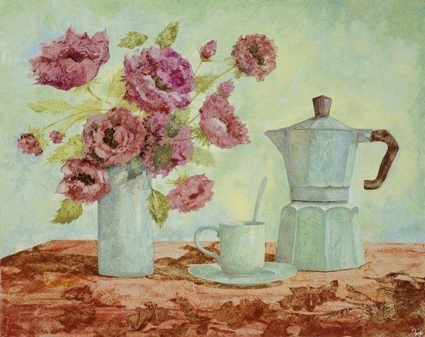 Bouquet dans un vase, une corbeille, une coupe, une poterie  - Page 2 3e910010