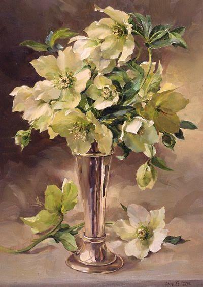 Bouquet dans un vase, une corbeille, une coupe, une poterie  444ccf10