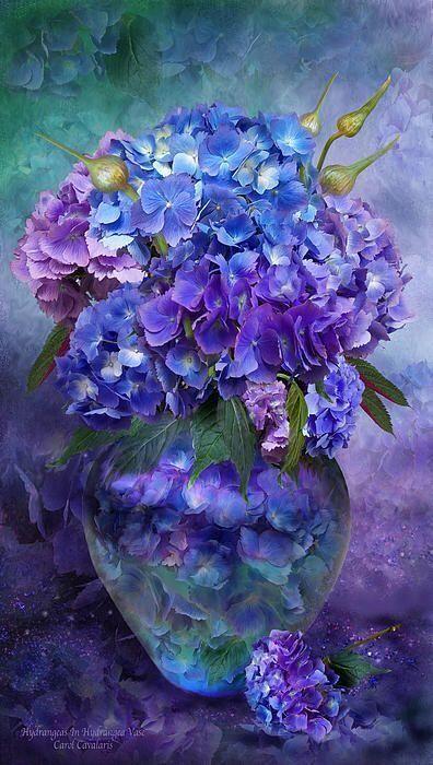 Bouquet dans un vase, une corbeille, une coupe, une poterie  4a66e610