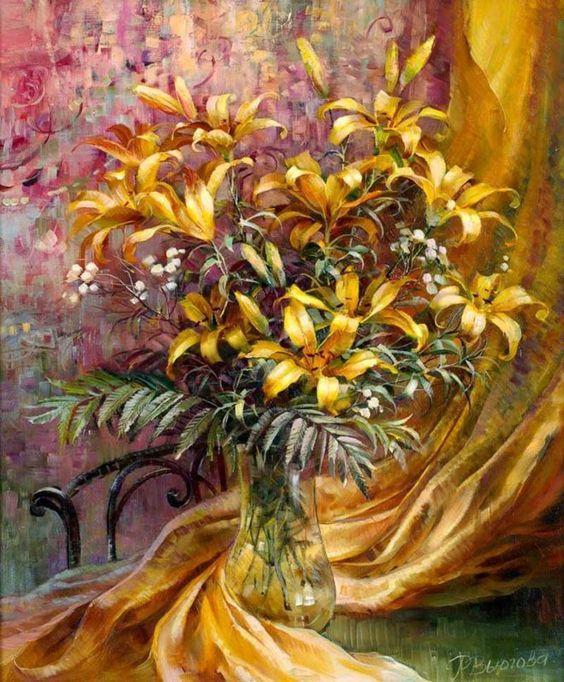 Bouquet dans un vase, une corbeille, une coupe, une poterie  - Page 2 4d99d310