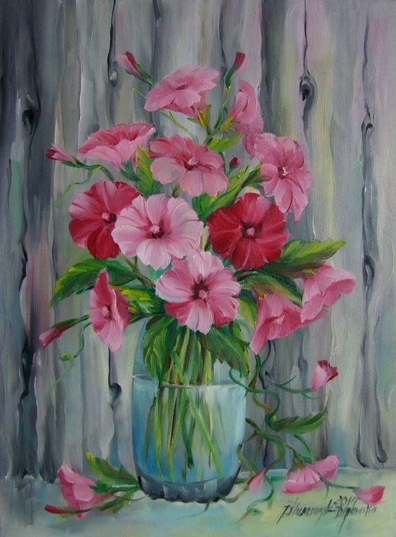 Bouquet dans un vase, une corbeille, une coupe, une poterie  - Page 2 51aa3212