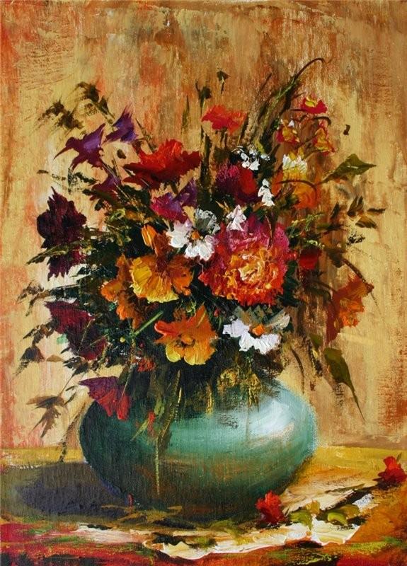 Bouquet dans un vase, une corbeille, une coupe, une poterie  - Page 2 5212df11