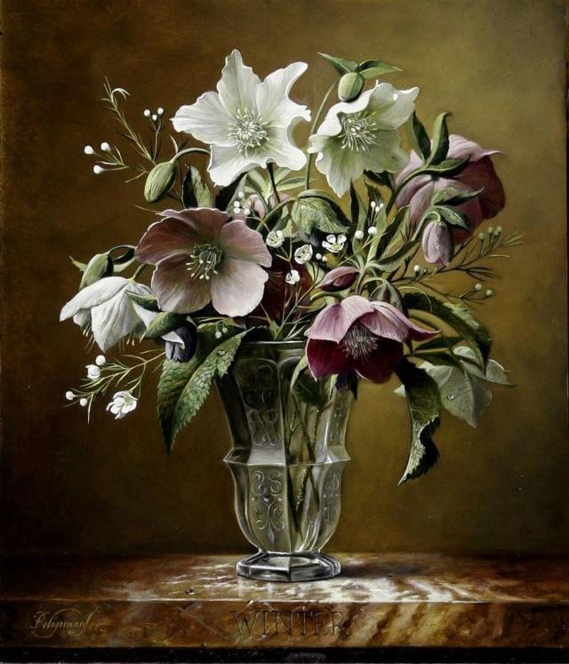 Bouquet dans un vase, une corbeille, une coupe, une poterie  - Page 2 611ac910