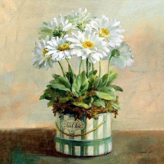 Bouquet dans un vase, une corbeille, une coupe, une poterie  - Page 2 67a89e10