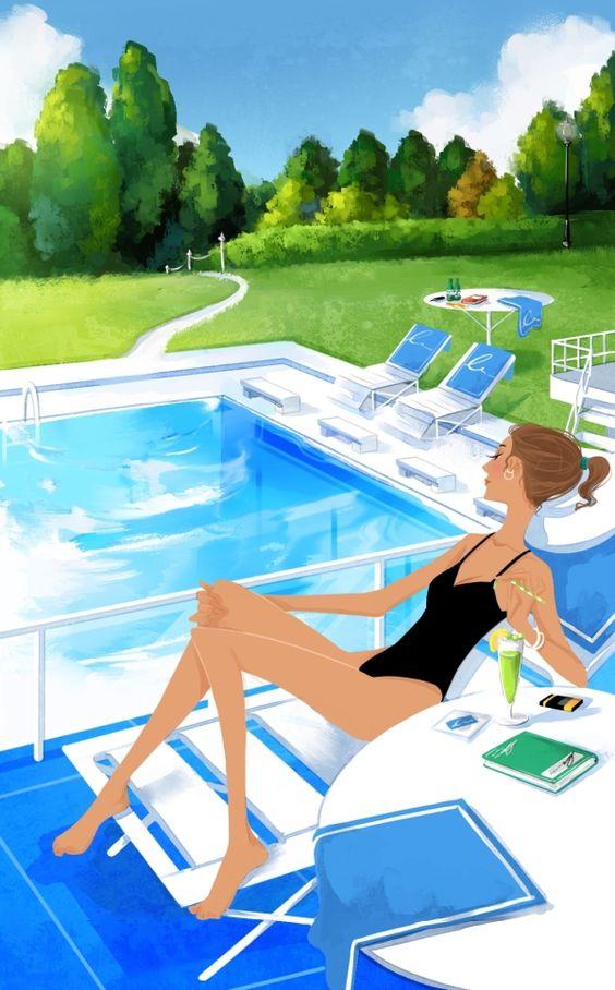 """Illustrations ... pour l'été ... Plage et """"farniente"""" ... 89b71b10"""